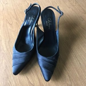 Cole Haan slingback satin pointed toe heels size 8